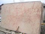 Brame de marbre bon marché de marbre rouge-rose de marbre beige de fleur