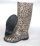Различных женщина прозрачный ПВХ дождь Boot, Датчик дождя ботинки, ботинки и транспарентной печати Boot