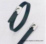 Serres-câble enduits de polyester auto-bloqueur d'acier inoxydable