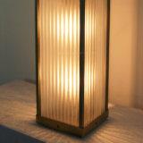 Kupfernes Messingende-Innenglasfarbton und Metallgehäuse-Tisch-Lampen-Laterne