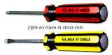 Инструмент корончатой перейти с помощью отвертки Phillips перейдите с помощью отвертки с плоским лезвием
