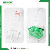 Металлический провод корзину держатель для сетей супермаркетов корзины покупок