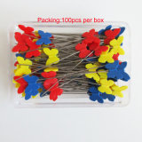 comprimento de 46mm que Sewing os pinos estofando retos da forma principal plástica da borboleta