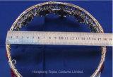 Tiara 크라운 신부 둥근 수정같은 다이아몬드 훈장 크라운 유럽 포도 수확 바로크식 보석 결혼식 크라운 (J01)