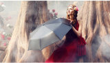 مظلة نساء هبة أسود طلية [سونسكرين] يطوي مظلة شمسية صامد للريح