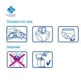 245mm a superfície de algodão ultra fina descartáveis para uso adulto respirável alterando guardanapo sanitário