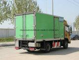 Shacman 4X2 gekühlter Van 5 Tonnen Nahrung-erneuern LKW
