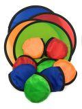 Promotion Frisbee pliable de pliage en polyester pour des cadeaux avec pochette de ventilateur