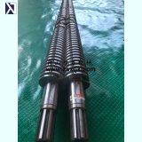 Vis jumelle conique et baril de pipe directe de PVC d'usine