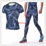 Dernière mode personnalisé de gros de la salle de gym collants de compression T-shirts