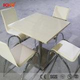 Tabella pranzante di superficie solida di colore di marmo artificiale all'ingrosso della Cina con la sede 2