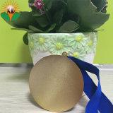 Fábrica de vender la parte superior de la competencia personalizada premio medalla de metal con cordón