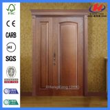 Interior residencial cocina comercial Swing las puertas de chapa de madera de roble