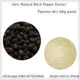 natürlicher Auszug Piperine des schwarzen Pfeffer-98%Min mit großen Aktien 94-62-2