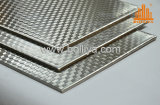 Revestimento metálico composto de aço inoxidável