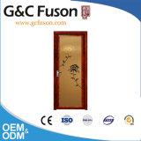 Porta de alumínio do Casement do frame de Guangdong da cor de madeira do carvalho