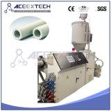 Línea plástica del tubo del PE/cadena de producción plástica de la protuberancia del tubo del agua/de gas del HDPE