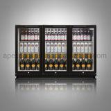 Porta tripla sob o refrigerador do refrigerador do frasco do indicador das bebidas da barra da parte traseira do contador