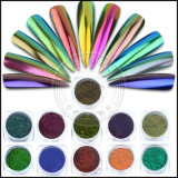 ユニコーンの虹ミラーの効果の砂糖のオーロラの釘の顔料の粉