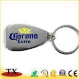Apri di bottiglia su ordinazione del metallo di marchio con Keychain
