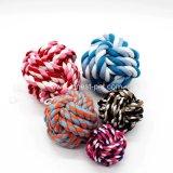 Van de Katoenen van het Stuk speelgoed van het Huisdier van de goede Kwaliteit de Kleurrijke Ballen Hond van de Kabel