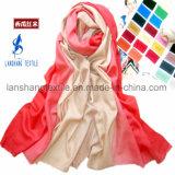 sciarpa tinta 100%Wool per la signora Woman