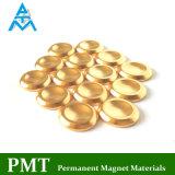 Magnete permanente dorato di D17 NdFeB con il materiale magnetico del neodimio