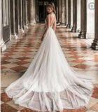Sem mangas Chiffon vestido de noiva Lace Suite Wedding Beca Ld15262