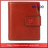 Brevi raccoglitore/borsa di cuoio cerei rossi del supporto di scheda di RFID con la casella della moneta