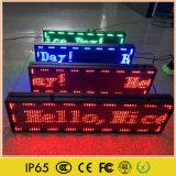 Pantalla corriente de interior de la muestra del mensaje LED del movimiento en sentido vertical