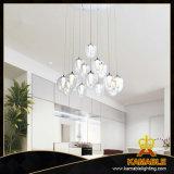 Moderne hängende hängende Lampe des Metallglasacryl-LED (AD15002-14B)