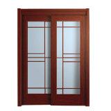 Конструкция двухгусеничной стеклянной раздвижной двери просто для Катара