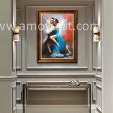 La reproduction de Fabian Perez Les amateurs de danse à la main peinture