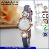 주문 로고 석영 시계 숙녀 우연한 손목 시계 (WY-077B)