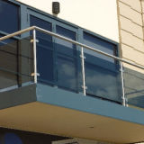 Treppen-Glasbalustrade halb Frameless Glas-Balustrade