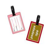 Impresa personalizada PVC Hangtag personalizada Etiqueta de Equipaje de plástico con un lazo conectado