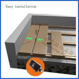 Pavimentazione composita di plastica di legno di Decking/di Caldo-Vendita vuota Anti-UV esterna con differenti grani di legno