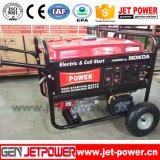 15HP двигатель 7Квт для домашнего использования бензиновый генератор с помощью рукоятки колеса