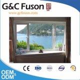 Tissu pour rideaux en aluminium de bâti de PVC/UPVC et guichet fixe
