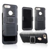 Commercio all'ingrosso 2 in 1 cassa del telefono delle cellule dell'armatura di anello del PC di TPU con Kickstand per il iPhone 7plus