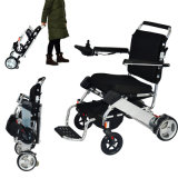 El Portable plegable motoriza la silla accionada todo el sillón de ruedas eléctrico del terreno