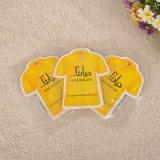 Tシャツの形の衣服の香料入りのペーパーハングの芳香剤(YH-AF517)