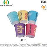 Papier-Kaffeetasse des Probieren-4oz für Förderung