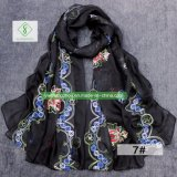 Retro signora di seta Shawl di modo della sciarpa ricamata Rosemary di vendita calda