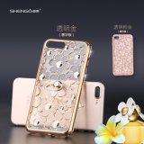 Bolsos y cajas cristalinos de lujo del teléfono de TPU 3D de la flor suave de la margarita para el iPhone 7