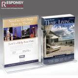 Livre d'étalage de brochure de contre- dessus d'étalage de magasin et étalage acryliques de carte