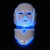 Terapia portátil da luz da máscara do diodo emissor de luz da máscara protetora do diodo emissor de luz da cor da máscara 7 do diodo emissor de luz
