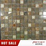 Mosaico di ceramica del mosaico di colore del caffè della miscela della crepa di marmo lucida del ghiaccio