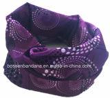 Fabrik-Erzeugnis passte Firmenzeichen-Druck-purpurrotes Polyester MultifunktionsTubies Headwear an