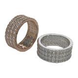 형식 보석 최상 단순한 설계 보석 AAA 입방 지르코니아 금 여자 (R11060)를 위한 은에 의하여 도금되는 우아한 반지 보석